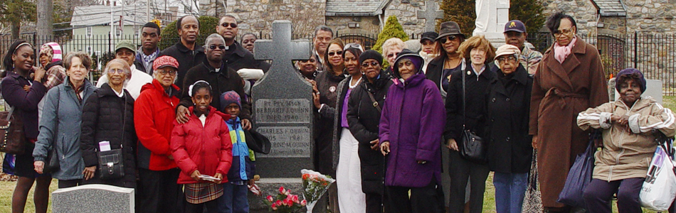 April 5th 2014 - Pilgrims who visited Fr. Quinn's grave for the memorial of his death.