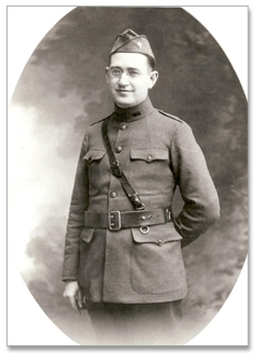Msgr. Bernard J. Quinn as an Army chaplain in France during World War I. In 1922, he established St. Peter Claver, the first church for black Roman Catholics in Brooklyn.