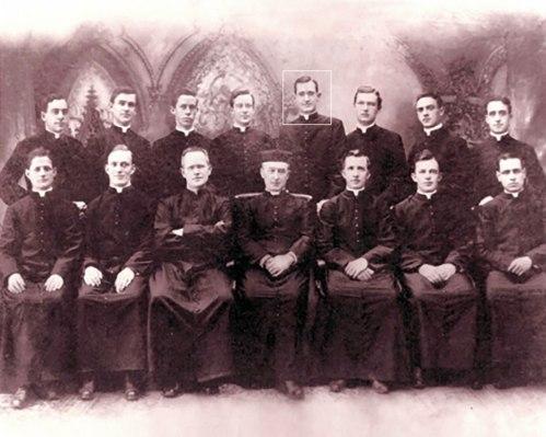 Fr. Quinn as a seminarian with his classmates at St. john's Seminary in Brooklyn, NY