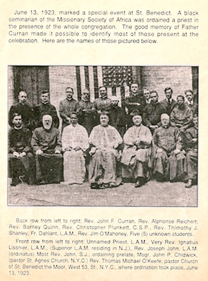 A black seminarian ordained a priest – From the book A Pioneer Church by George Coll on June 13, 1923