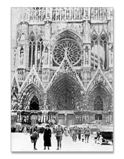 Fr. Quinn outside Notre Dame Cathedral as army Chaplain – in Paris, France
